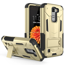 High Quality Rugged Transformer Armor Case For LG Aristo MS210,Hybrid 3 in 1 Super Shield Hard Cover Shockproof For Aristo MS210