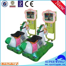 Amusement kiddie ride Coin operated horse racing game machine indoor kids crazy 3D horse racing