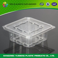 Disposable clear plastic cupcake container,flat lid containers,food container