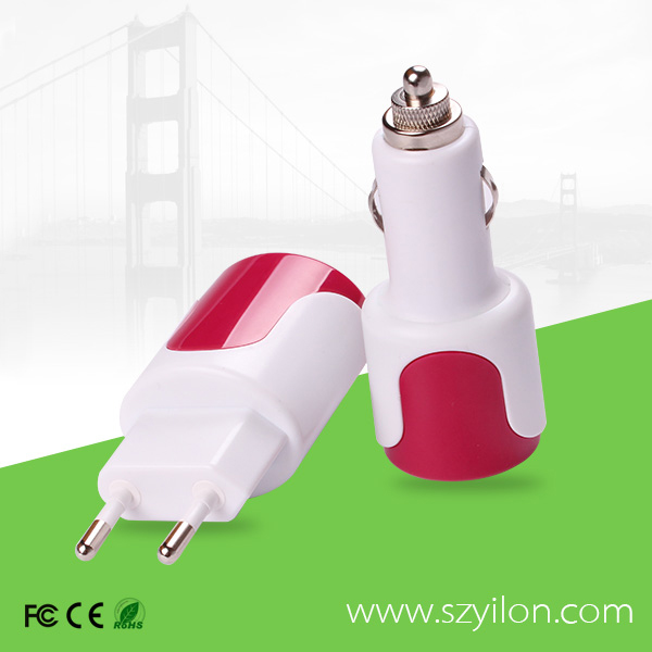 phone accessory mobile charger used in car with socket for EU UK USA for mobile phone