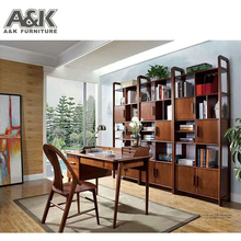 High Quality Solid Wood Bookcase with Study Table for Study Room Furniture