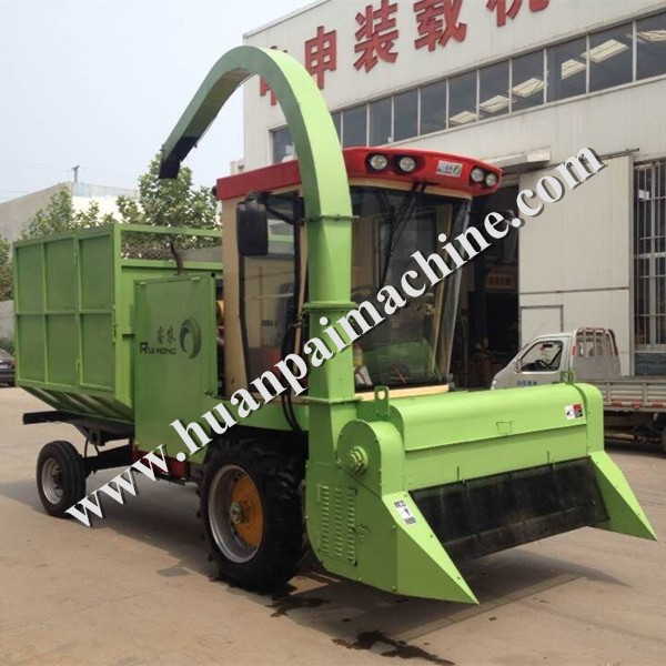 Self propelled forage machine corn straw silage machine for sale