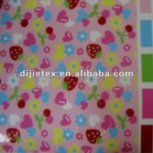 custom heart printed polar fleece fabric