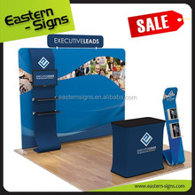 With Wheels Plastic Exhibition Folding Table