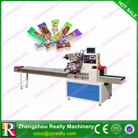 Horizontal Rotary Pillow Packaging Machine For Popcorn Cookie
