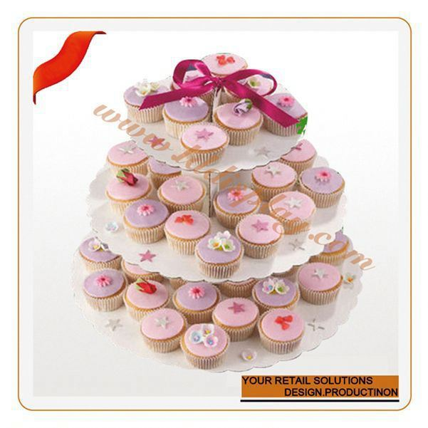 Customized cup cake trays pop new design for 2014 cake rotating base