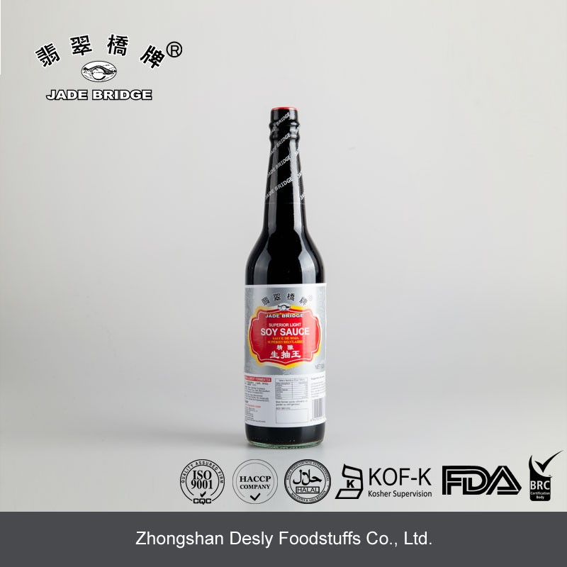 Chinese superior low salt light soy sauce small bottle 150ml