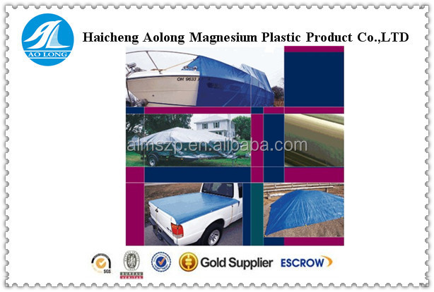 PE tarpaulin sheet ground sheet cover water proof tarpaulin with eyelets 4m non-weld