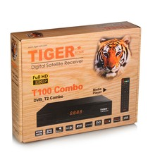 Selling Android DVB S2+DVB T2 Combo tv box Tiger T100 combo support wifi,youtube,3G