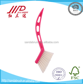 Best quality Multipurpose pink gap cleaning brush / Small Grout cleaning Brush / Mini grooves brush