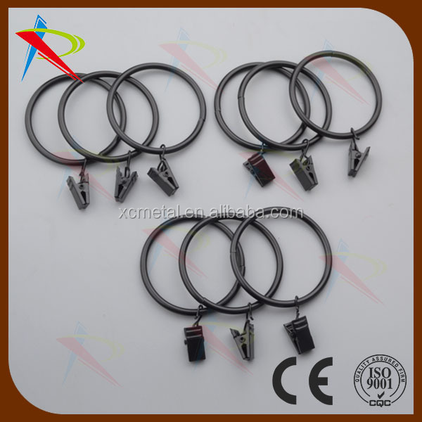 Curtain rings with clips 2 inch