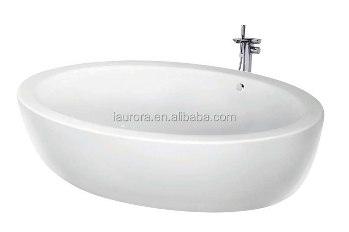 Used oval shaped freestanding bathtub with small sizes for Oval tub sizes