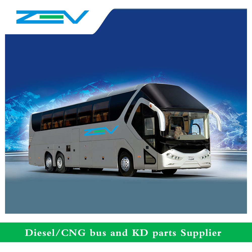 ZEV auto 12 meters luxury bus price coach 60 seater bus for sale