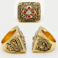 Liaobao CH1057 World Series Fashion 1957 Milwaukee Braves Replica Alloy Championship Rings