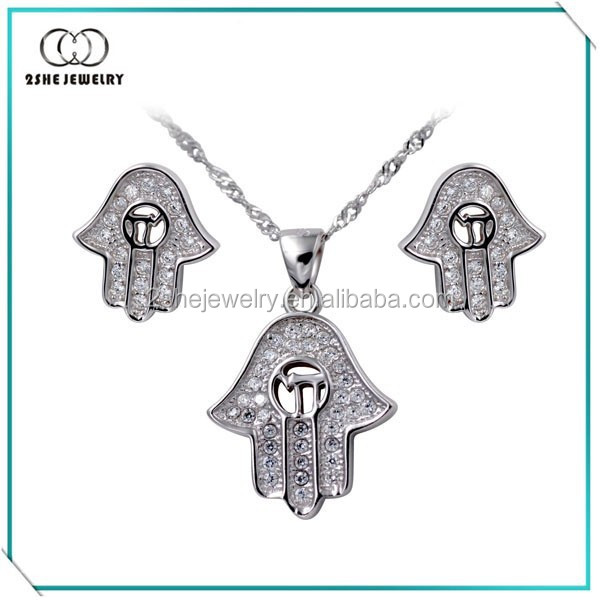 Hamsa Hand pendant and earrings china jewelri manufactur direct
