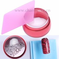 Facotry Supply New 3.5cm Clear Jelly Transparent Nail stamper For Nail Fashion