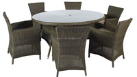6 seater garden elliptical umbrella table and high back rattan dining chair royal outdoor cane furniture usa