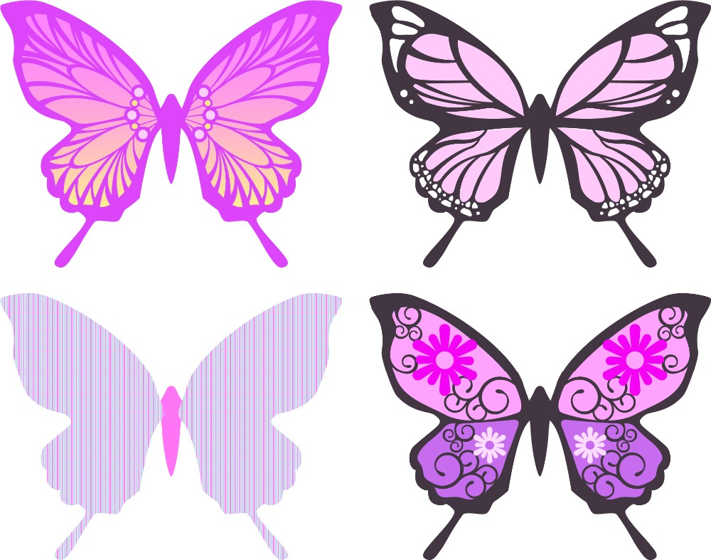 Hot selling PVC 3d decoration butterfly wall sticker