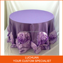 Gorgeous Light Purple Wedding Banquet Satin Table Cloth Round