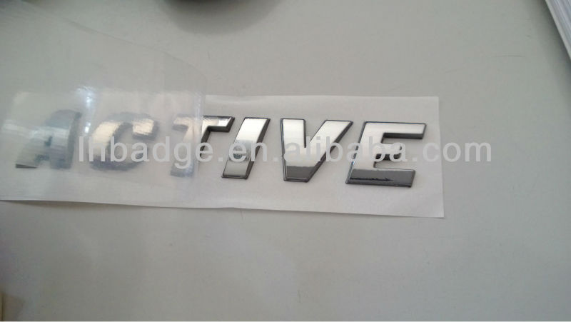 ABS letters, chromed badges, car logos (LH-9015)