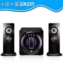 New design 2.1 speakers surround sound fm radio home threater system with USB,,SD,,Remote for high quality