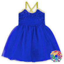 Royal Blue One Piece Girls Party Dresses Baby Girl Party Dress Children Frocks Designs Softtextile 1-6 Years Old Baby Girl Dress