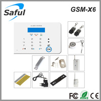 gsm module for alarm Saful GSM-X6 wireless safety Touch Screens