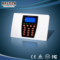 led display home security system gsm based