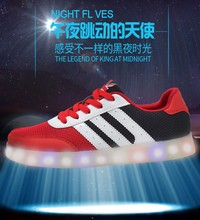 Casual sneaker with 7 colors led light to help low shoes for man and woman , casual sport shoes
