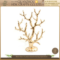 High quality craft royal home decor ornament polyresin gold resin corals