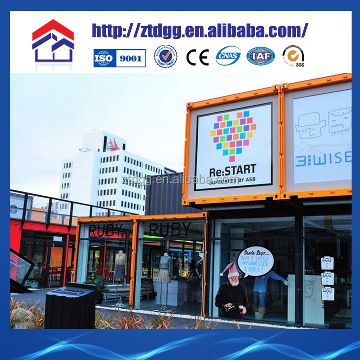 Steel container house container shopping stores prefab container shop interesting design good price