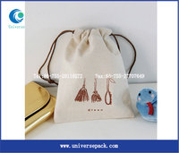 Printed Personal Drawstring Cotton Natural Pouch With Custom Logo Wholesale Packing Bag