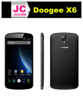 Young and luxurious black doogee x6 model call barcall android mobile phone