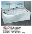 2017 Cheap Rectangular massage bathtub with used by Acrylic finshied for bathroom for sale
