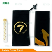 High quality Twisty glass blunt in stock!!! Best Selling Twisty glass blunt pipe smoking glass tobacco with cheapest price