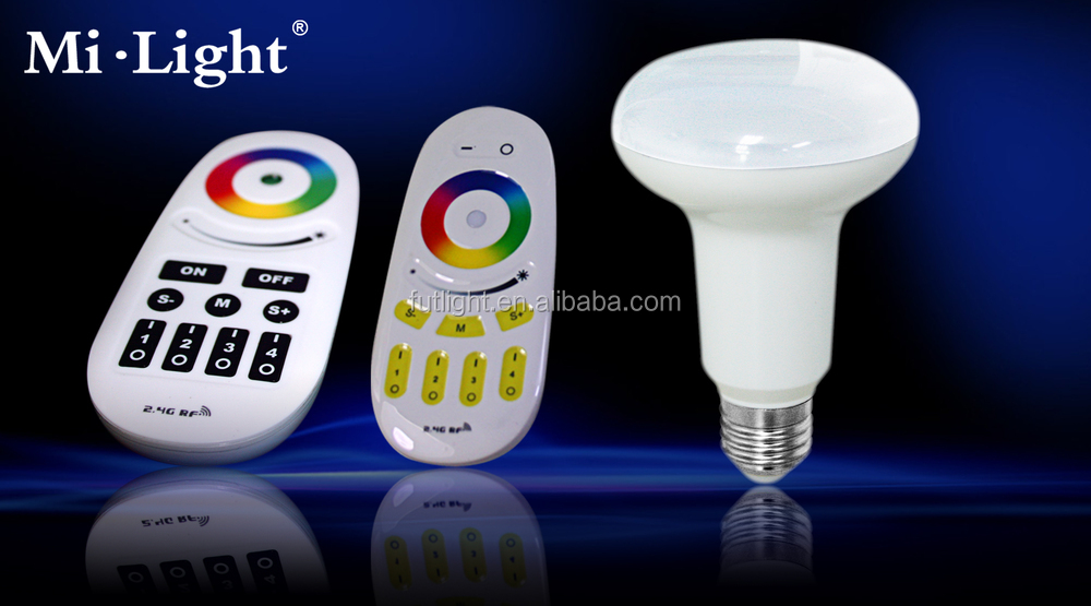 E27 / e26 wireless Dimmable & RGB LED Bulb 9w RF Remote Control Memory Function rgb color change par30 led light bulb