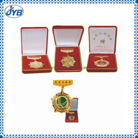 Die struck fields wooden box and award/medal