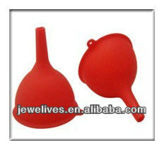 Newly, eco-friendly food grade silicone foldable funnel from china manufacturer