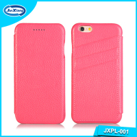 High Quality Luxury Genuine Card Holder Flip Leather Phone Case Cover For Iphone 6