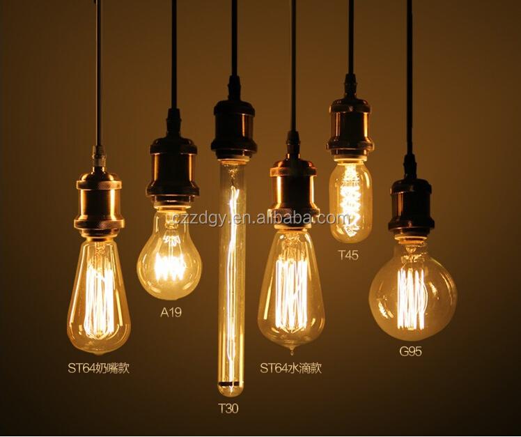Decorative Edison Carbon Filament Light Bulb,Vintage Light Bulb,110 - 220v Edison Bulb String ...
