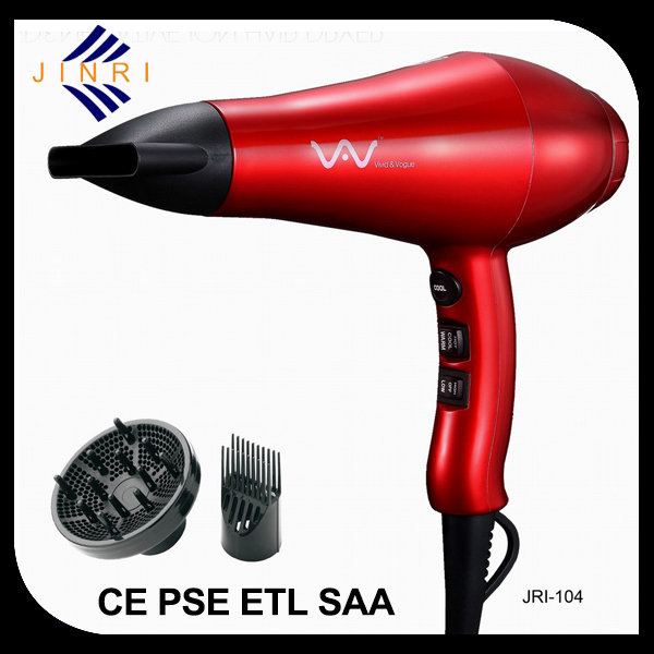 ETL CE High temperature ionic hair dryer with cool shot function