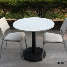 KKR acrylic solid surface restuarant furniture/ round coffe table