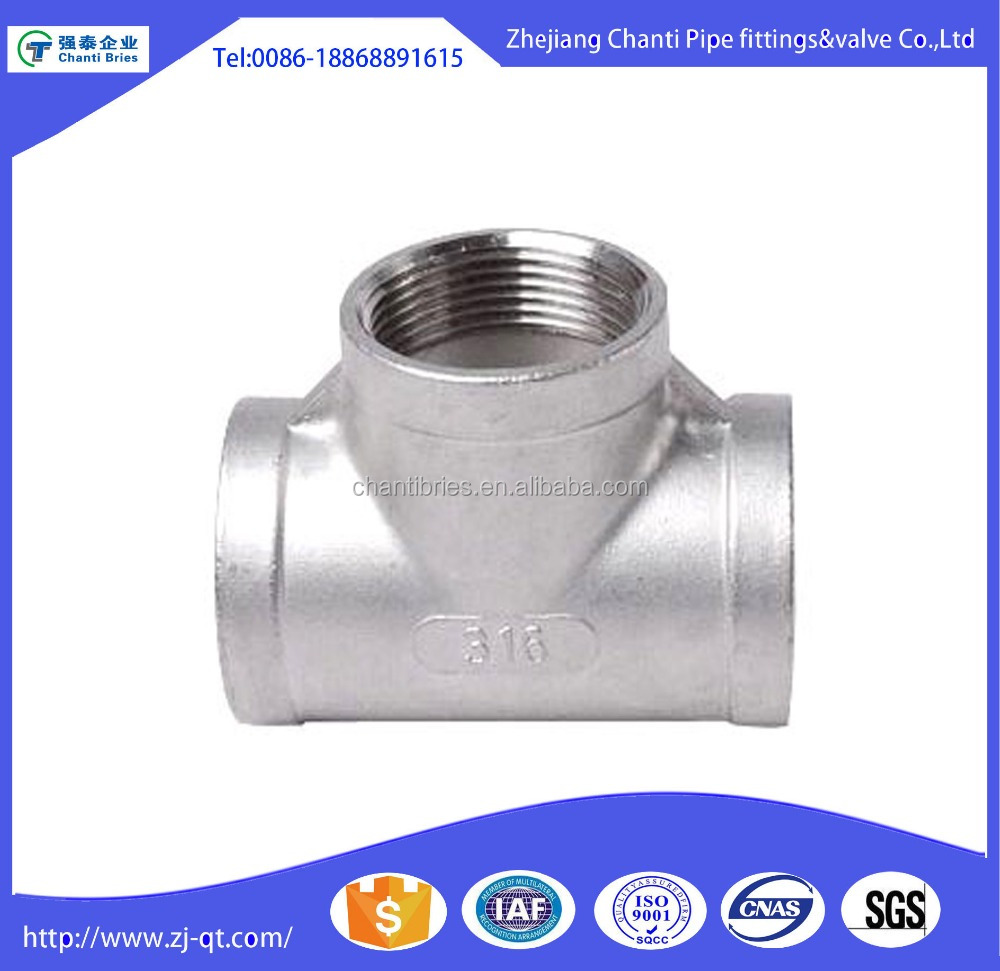 Welcome Wholesales High Technology 304 NPT Threaded Equal Barred Tee
