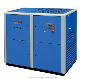 SFC75C 75KW/100HP 13 bar AUGUST stationary air cooled screw 13 bar air compressor