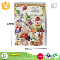Offset printing artificial blank A5 size recordable greeting card