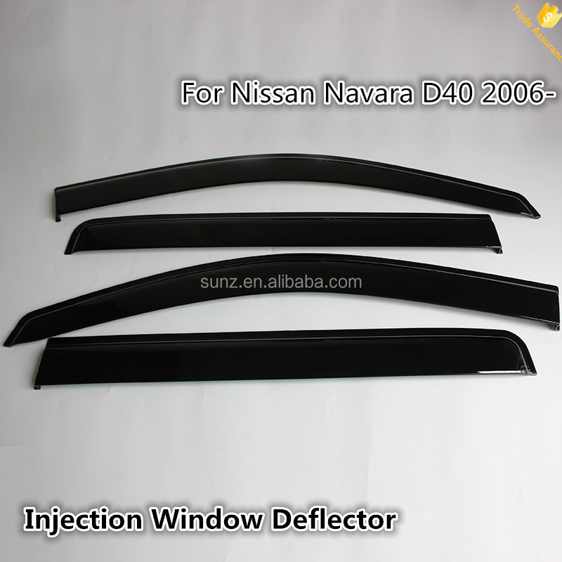 Injection molded Weather Shields Weathershields Window Visors Weather Deflectors For Navara D40 2006- Car Accessories