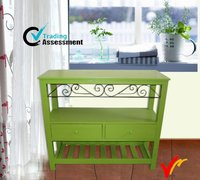 corner living room vintage wood indoor deco paint green furniture