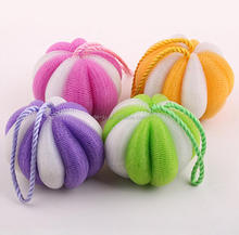 PE Mesh Pumpkin Ball Bath Sponge Plastic Netting