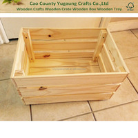 2015 New designed hot sale wholesale natural unfinished home cheap wooden wine fruit vegetable crates for sale
