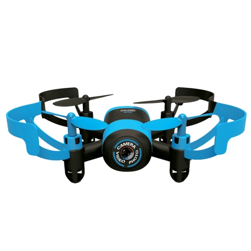 512V <strong>Mini</strong> 360 Degree Flip 4-Channel 2.4GHz Radio Control Quadcopter with 0.3MP Camera & 4G TF Memory Card & 6-axis Gyro(Blue)